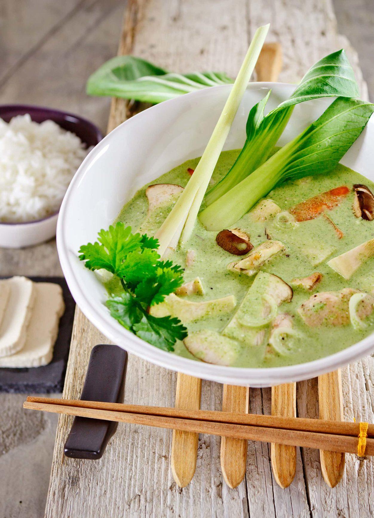 Thai Green Curry mit Jasminreis