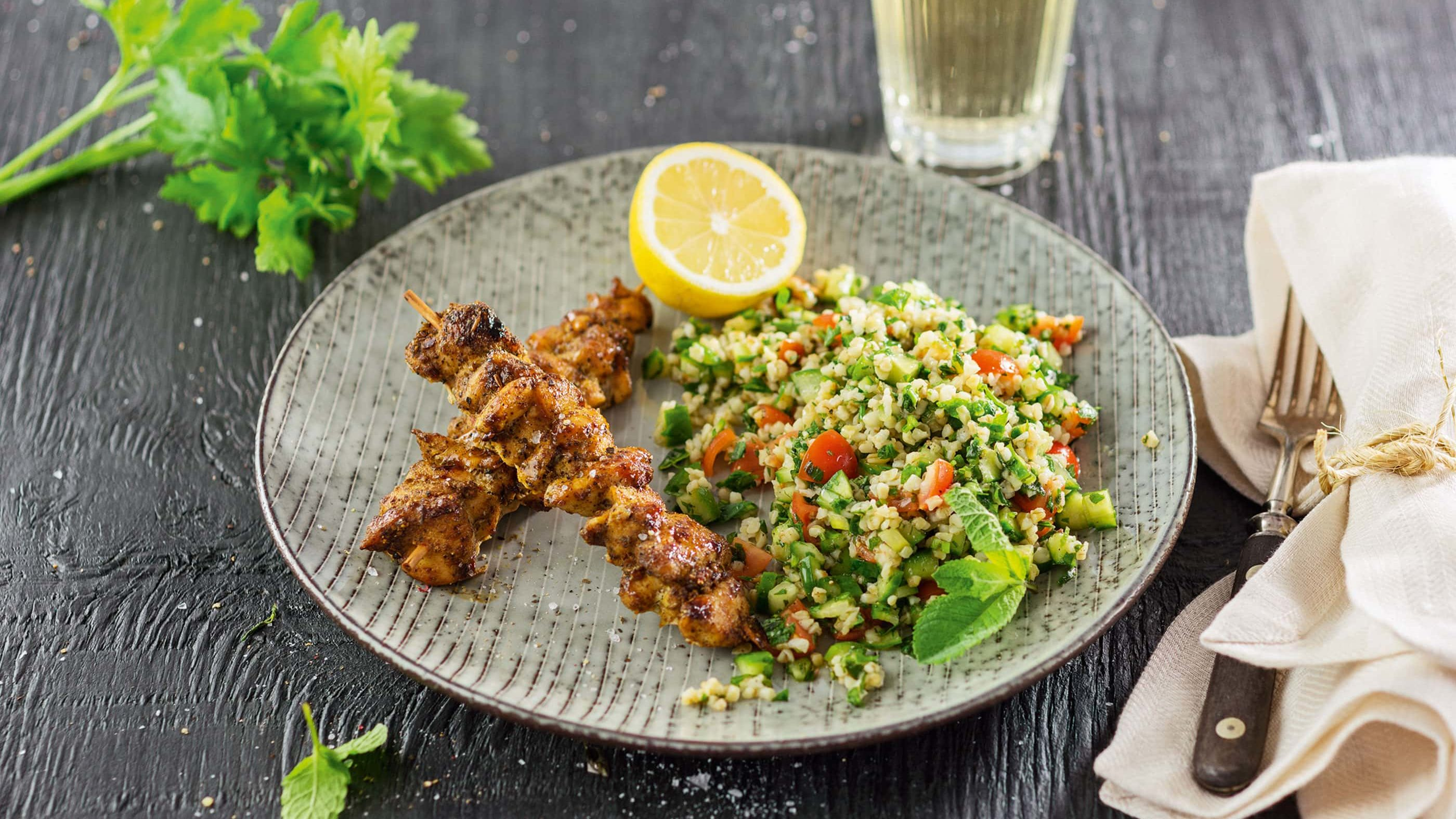 Chicken Kebab mit Tabouleh